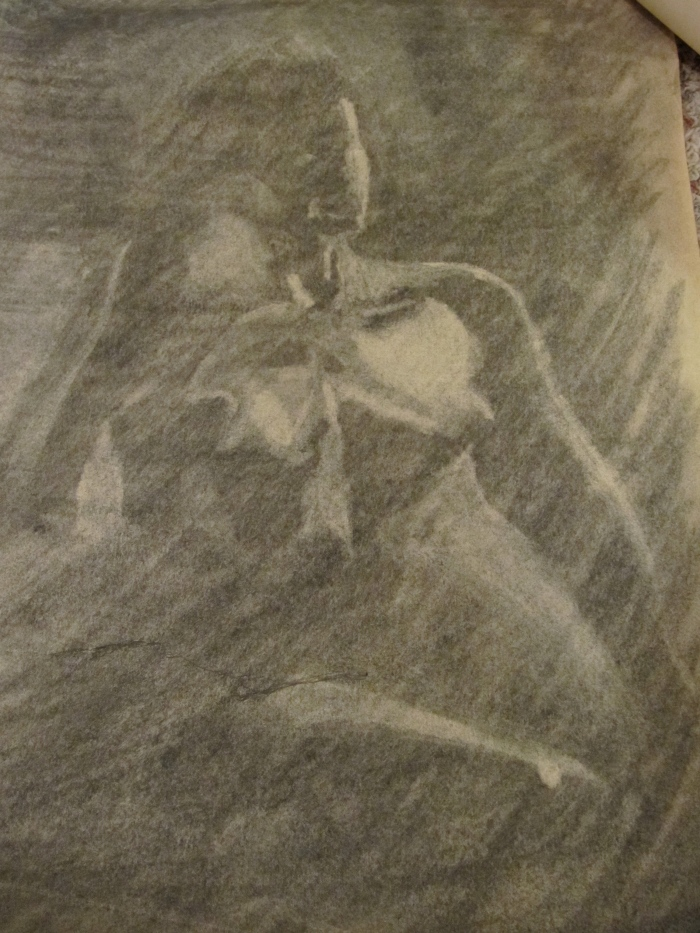 Life Drawing, charcoal on newsprint, circa 1999