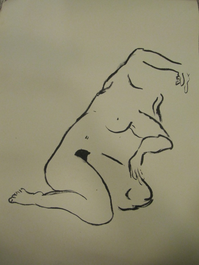 Life Drawing, ink on newsprint, circa 1999