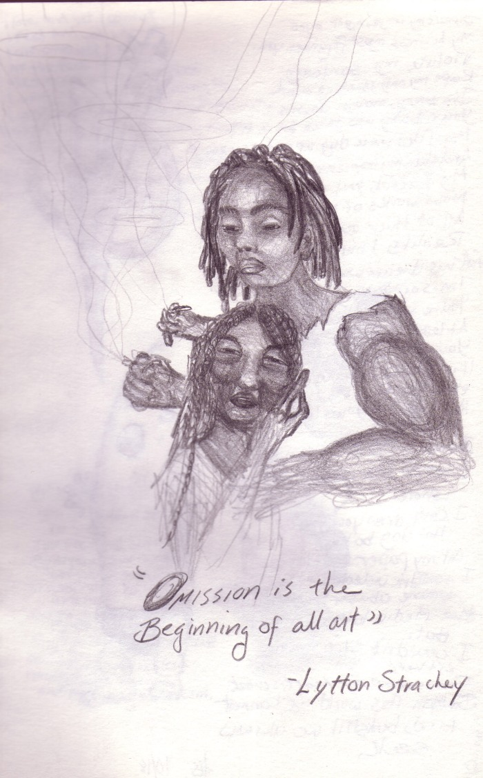 Lytton Stanley, pencil on sketchpad, circa 1996